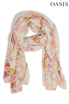 Oasis Natural Sparkle Floral Scarf
