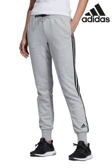 Серые базовые спортивные брюки с тремя полосками adidas