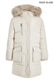 River Island Cream Hayden Padded Jacket
