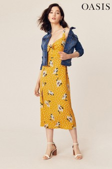Oasis Multi Yellow Ruby Floral Midi Dress