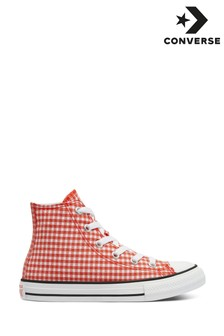 Converse Gingham High Youth Trainers