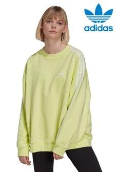 adidas Originals Oversized 3 Stripe Crew Sweater