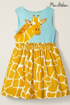 Boden Yellow Safari Appliqué Dress