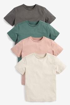 4 Pack Short Sleeve T-Shirts (3-16yrs)