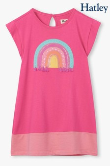 Hatley Pink Over The Rainbow Terry Dress