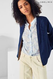 Mix/Scotch & Soda Navy Blouse Jacket