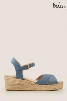 Boden Blue Jasmine Espadrille Wedges