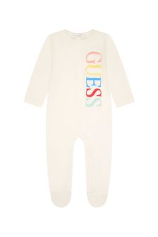 Guess Baby White Cotton Babygrow