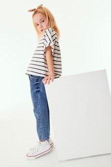 Stripe Boxy Shaped Basic T-Shirt (3-16yrs)