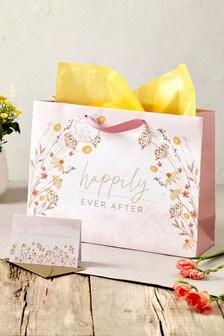 Floral Gift Bag Set