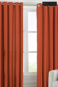Fiji Faux Silk Eyelet Curtains by Riva Home