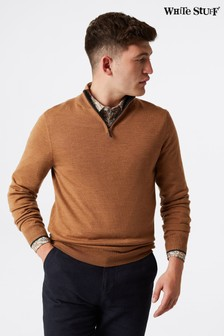 White Stuff Brown Keswick Merino Funnel Jumper