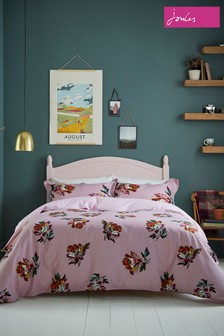 Joules Heritage Peony Floral Cotton Duvet Cover