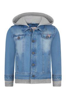 Guess Boys Blue Cotton Jacket