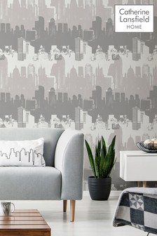 Catherine Lansfield Cityscape Wallpaper