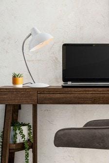 White Cade Desk Lamp
