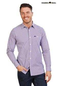 Raging Bull Purple Long Sleeve Multi Gingham Shirt