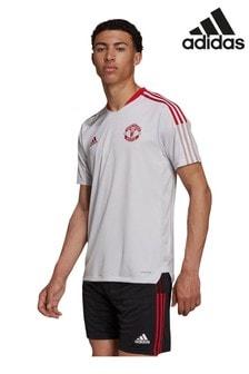 adidas White Manchester United Training T-Shirt