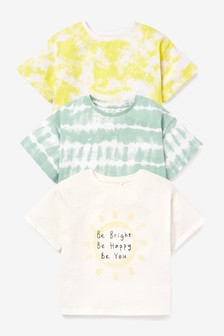 3 Pack Tie Dye Sunshine T-Shirts (3-16yrs)