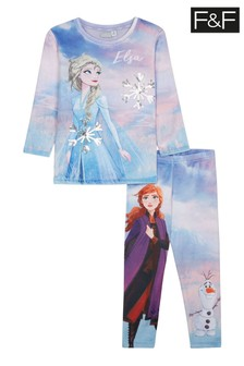 F&F Pink Frozen 2 Divine Fleece Hanging Pyjamas