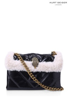 Kurt Geiger London Black White Patent Mini Bag