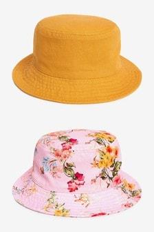 2 Pack Bucket Hats (3mths-6yrs)