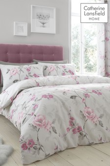 Catherine Lansfield Floral Trail Duvet Cover and Pillowcase Set