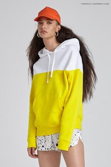 French Connection Yellow Sunday Sweat Colourblock Hoody