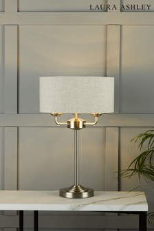 Chrome Sorrento 3 Light Table Lamp With Shade