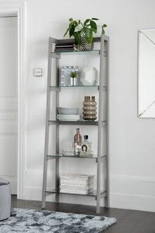 Glass Ladder Shelf