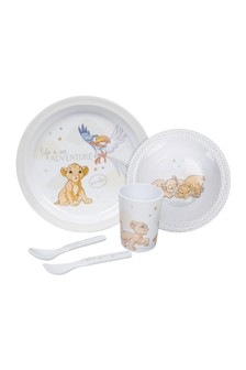 5 Piece Magical Beginnings Simba Crockery Set