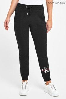 Calvin Klein Jeans Black Monogram Sweatpants