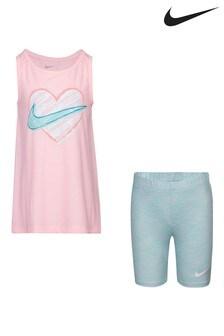 Nike Little Kids Vest and Space Dye Bike Shorts Set