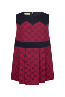 GUCCI Kids Baby Girls Red Cotton Blend Dress