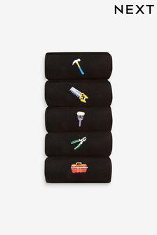 Men's Embroidered Socks 5 Pack