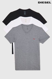 Diesel Grey, White and Black 3 Pack T-Shirt