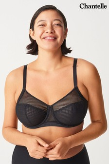 Chantelle Motif Black 4-Part Bra