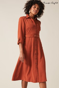 Phase Eight Brown Tallulah Shirt Dress