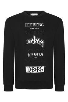 Ice Iceberg Boys Black Sweater