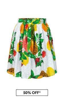 Guess Girls Multi Cotton Skirt
