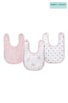 aden + anais Essentials Pink Snap Bibs Three Pack