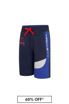 Hackett London Kids Boys Navy Cotton Shorts