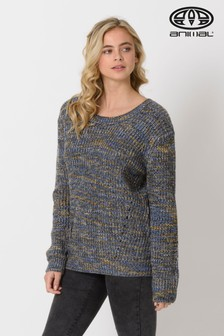 Animal Sky Captain Blue Lilly Sue Knitted Jumper