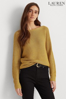 Lauren Ralph Lauren® Gold Lurex Relaxed Fit Vinza Jumper