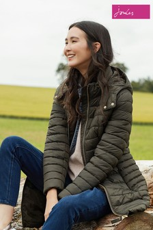 Joules Green Canterbury Long Luxe Padded Jacket