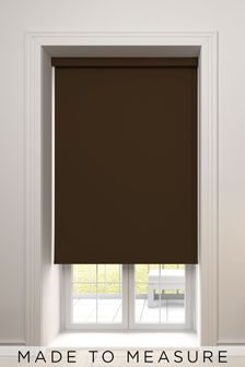 Haig Mocha Brown Made To Measure Blackout Roller Blind