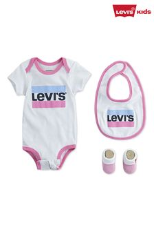 Levi's® Kids Pink Sports Logo Infant Bodysuit Set