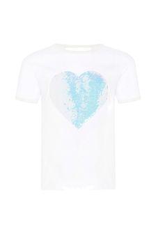 Billie Blush Girls White T-Shirt