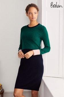 Boden Green Frederica Knitted Dress