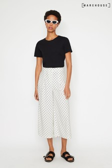 Warehouse Natural Polka Dot Culotte